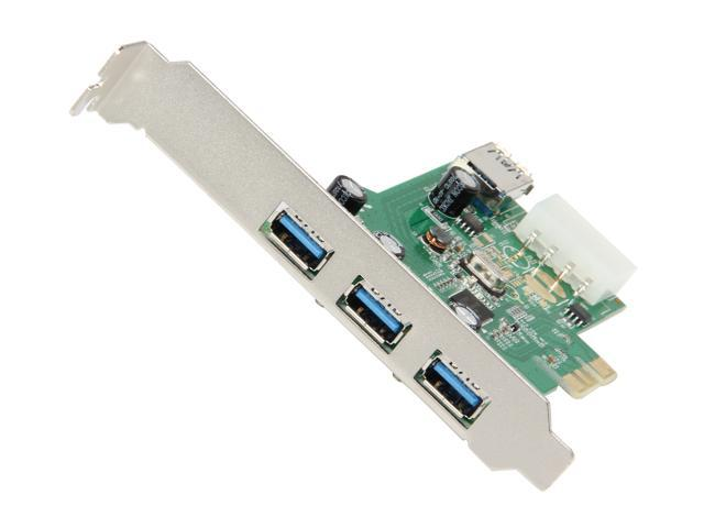 SYBA USB 3.0 3+1 Port PCI-e Card, Free Low Profile Bracket, Renesas Chipset Model SD-PEX20137
