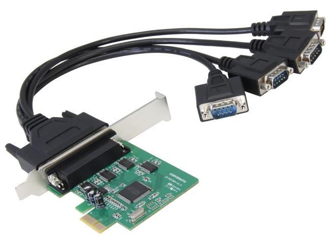 SYBA 4 Serial Ports PCI-e Controller Card, w/ Fan-out Cable, Low Profile Bracket, Chipset (WCH384L) Model SI-PEX15038