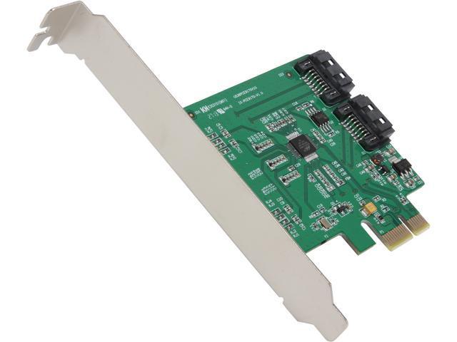 SYBA 2-port SATA III PCI-e Controller Card Model SI-PEX40075