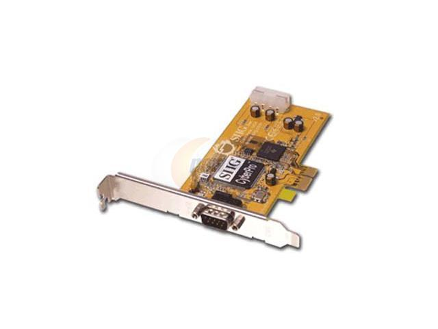 SIIG One-port (9-pin) serial (16550 UART) x1 PCI Express card Model JJ-E10011-S2