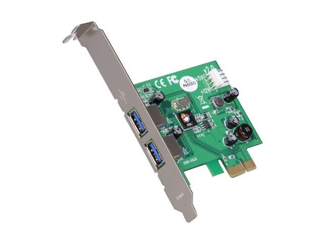 SIIG PCI Express to 2-Port USB 3.0 SuperSpeed Card Model JU-P20412-S2