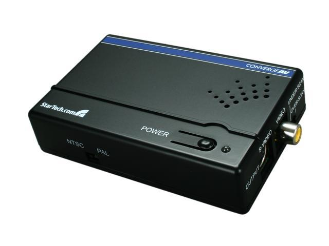 StarTech VGA2VID High Resolution VGA to Composite (RCA) or S-Video Converter - PC to TV Video Adapter - 1600x1200 RGB to TV