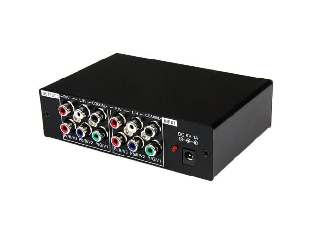 StarTech ST123HDA 3 Port Component Video Splitter with Digital Audio