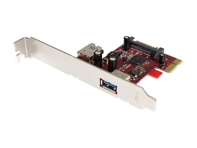 StarTech 2 port PCI Express SuperSpeed USB 3.0 Card Model PEXUSB3S11