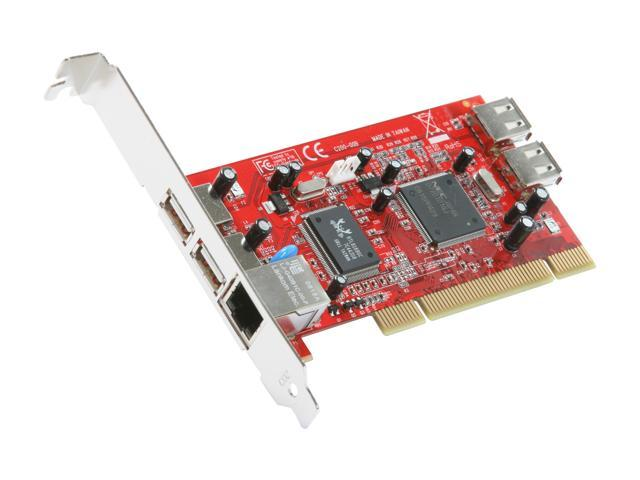 Koutech USB 2.0 + Gigabit Ethernet 10/100/1000 Combo PCI Card Model PC520