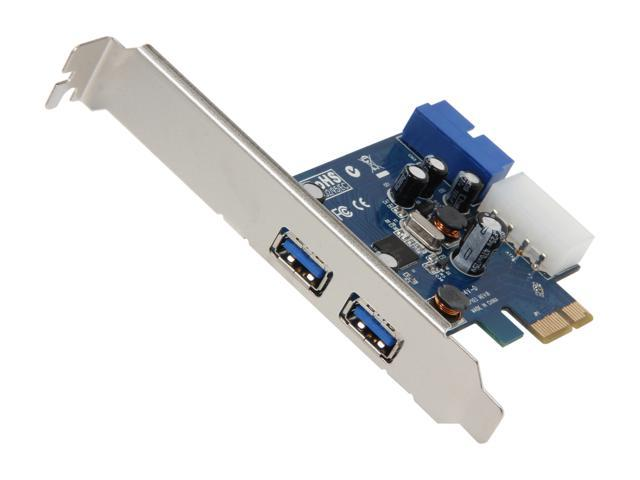 Koutech 4-Port SuperSpeed USB 3.0 PCI Express (x1) (2xExt+1xICC) (with 4-pin Molex power connector) Model IO-PEU438