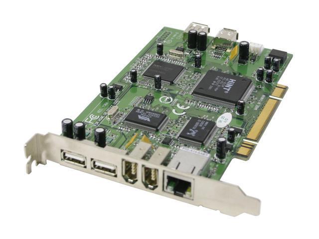 Koutech USB2.0 & FireWire & Gigabit Ethernet Network Combo PCI Card Model IO-PC720