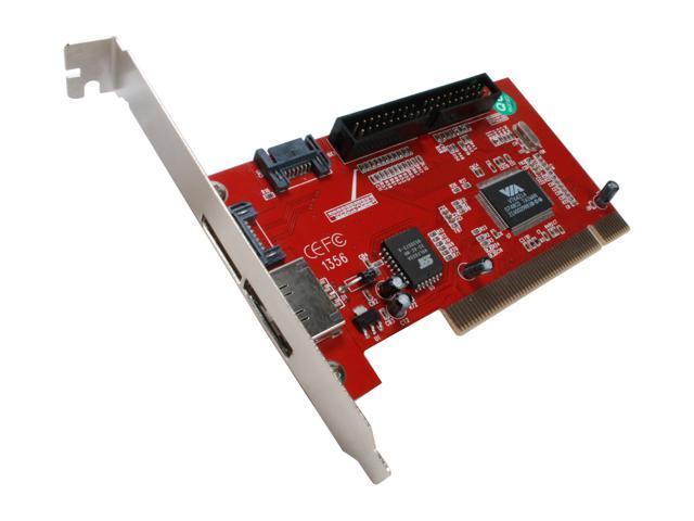 PPA Serial ATA (SATA) 3 Port PCI Controller Card 2 External + 1 Internal Model 1356