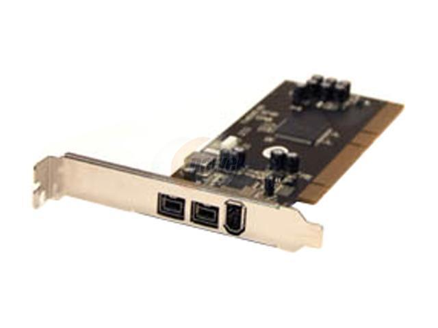 BYTECC PCI 64-bit 1394B 800Mbps 2B+1A 3 Ports Model BT- P64FW800