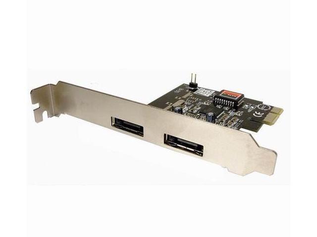 CABLES UNLIMITED 2 Port e-SATA Controller PCI Express Card Model IOC-7707
