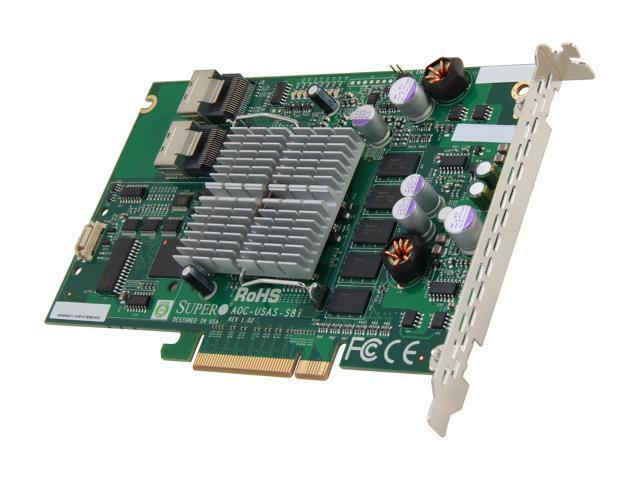 SUPERMICRO AOC-USAS-S8i PCI Express SATA / SAS RAID Controller Card