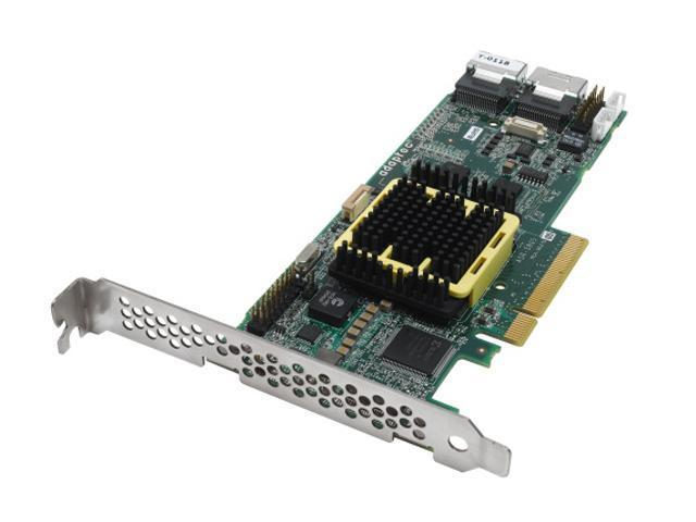 Adaptec RAID 5805 2244300-R SATA/SAS 8 internal ports w/ 512MB cache memory Controller Card, Single