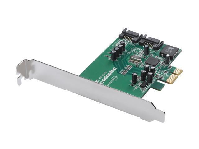 Adaptec RAID 1220SA 2255900-R SATAII PCI Express x1 RAID 0, 1, JBOD Controller Card, Single