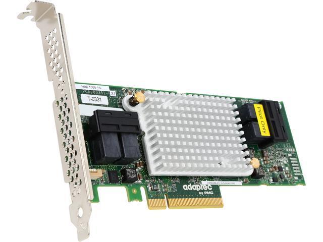 Adaptec 1000 2288400-R (1000-16i ) 8-Lane PCIe Gen3 Low-Profile, MD2 SATA / SAS 12 Gb/s PCIe Gen3  Host Bus Adapter