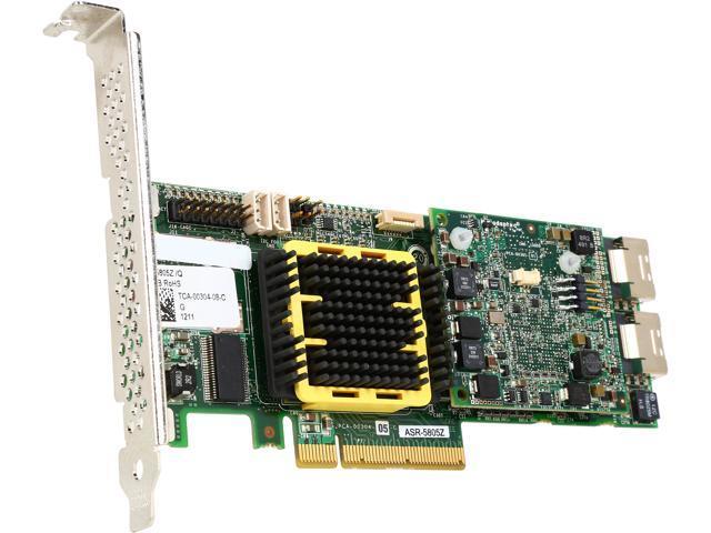 Adaptec 2268600-R PCI-Express x8 SATA / SAS maxCache 5805ZQ Controller Card