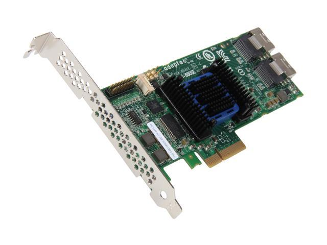Adaptec RAID 6805E 2270900-R 6Gb/s SATA/SAS 4 internal ports w/ 128MB cache memory Controller Card, Single