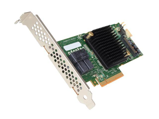 Adaptec Series 7 2274100-R (7805) PCI-Express 3.0 x8 MD2- Low Profile SATA / SAS RAID Controller Card - Single