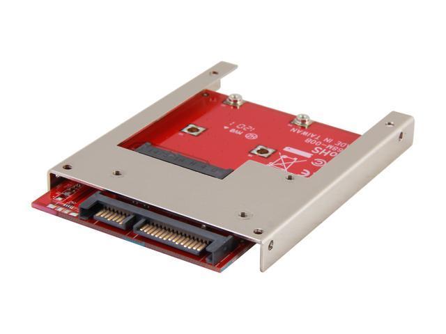 """Koutech IO-ASS110 mSATA to 2.5"""" SATA Device Converter with Metal Frame"""