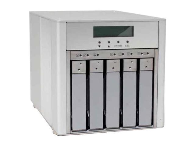 SANS DIGITAL MR5CT1 5 Bay SATA to USB2.0 / 1394b / eSATA RAID 6 Enclosure