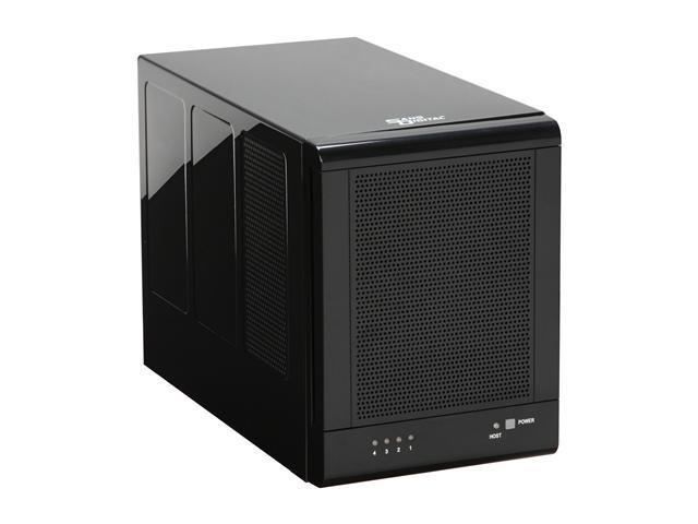 SANS DIGITAL TowerRAID TR4M-B – 4 Bay w/ 4TB HDD installed, SATA to eSATA (Port Multiplier) JBOD / RAID 0, 1, 1+0, 5 Enclosure (Black)