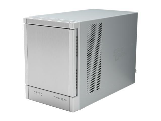 SANS DIGITAL TowerRAID TR4UT+ 4 Bay USB 3.0 / eSATA Hardware RAID 5 Tower w/ 6G PCIe 2.0 HBA (Silver)