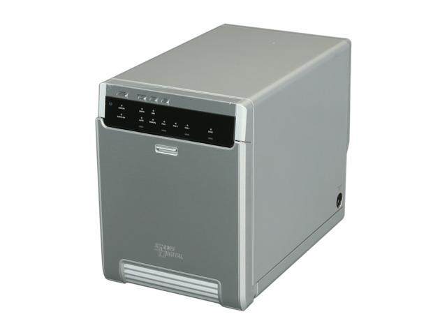 SANS DIGITAL MobileSTOR MS4UM+ 4-Bay eSATA Port Multiplier and USB 3.0 JBOD Tower (Silver)