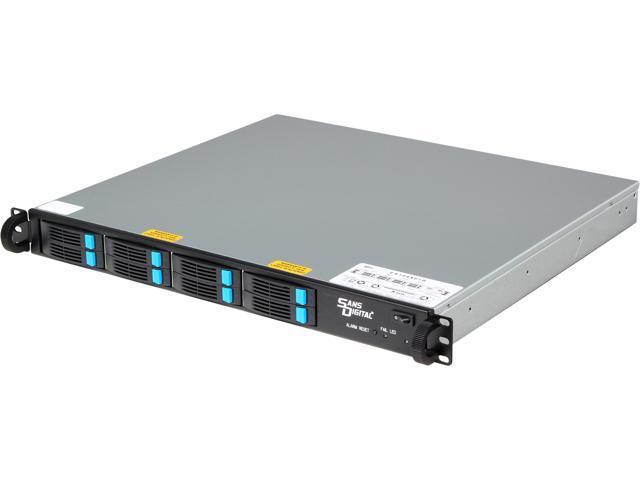 SANS DIGITAL EliteSTOR ES108X6+B JBOD (RAID is supported by additional RAID card) 6G SAS Expander, Mini-SAS / SFF-8088 x 1 1U 8 Bay 2.5