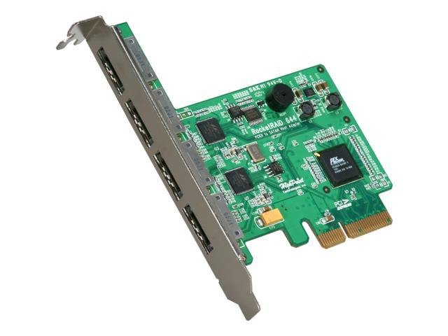 HighPoint RocketRAID Quad eSATA 6Gb PCI-Express 2.0 x4 SATA Controller Card For Mac