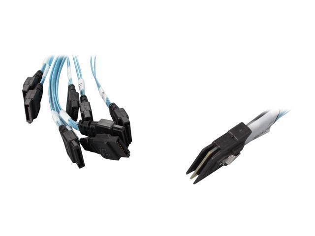 3ware CBL-M8OCF-10M 1 unit of 1m Multi-lane M8 (controller) to discrete SATA (backplane/drive) Fanout Cable