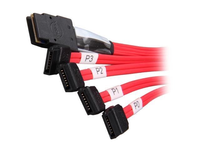 3ware CBL-SFF8087OCR-06M 0.6m Multi-lane Internal SFF-8087 Serial ATA Reverse Breakout Cable