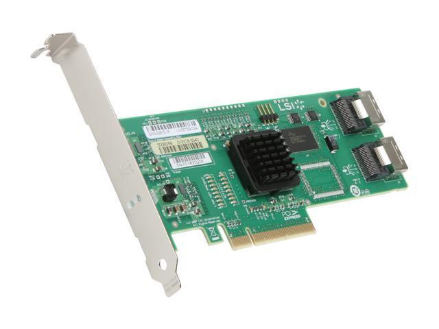 LSI SAS3081E-R PCI Express SATA / SAS Controller Card