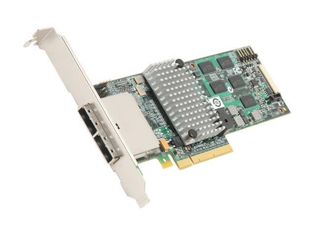 LSI MegaRAID SATA/SAS 9280DE-8e 6Gb/s PCI-Express 2.0 w/ 512MB onboard memory RAID Controller Card, Single