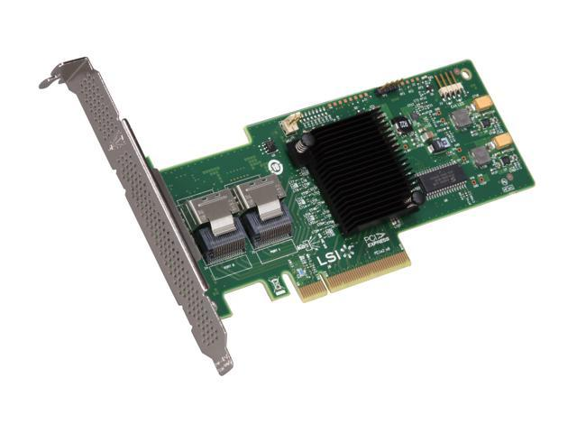 LSI MegaRAID Internal  Low-Power SATA/SAS 9240-8i 6Gb/s PCI-Express 2.0 RAID Controller Card, Kit--Avago Technologies