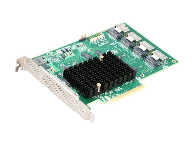 LSI LSI00244 (9201-16i) PCI-Express 2.0 x8 SATA / SAS Host Bus Adapter Card, Single Pack--Avago Technologies