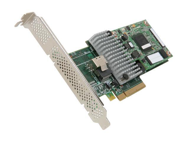LSI LSI00280 PCI-Express 2.0 x8 SATA / SAS MegaRAID SAS 9260CV-4i Controller Card, Single