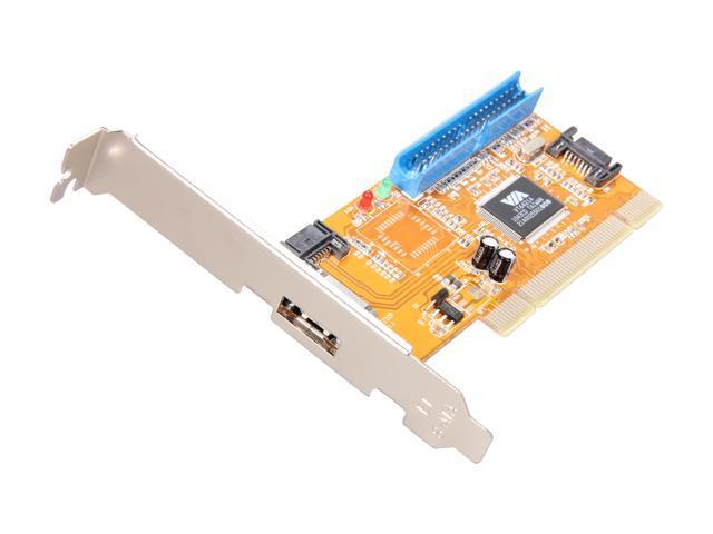 SYBA SY-VIA6421-3S1P PCI SATA / IDE Controller Card
