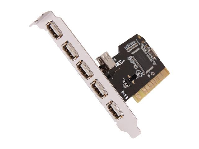 SYBA 6-port (5+1) USB 2.0 PCI Card, NEC Chipset Model SD-NECU2-5E1I