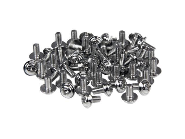 StarTech SCREWM3 PC Mounting Computer Screws M3 x 1/4in Long Standoff - 50 Pack