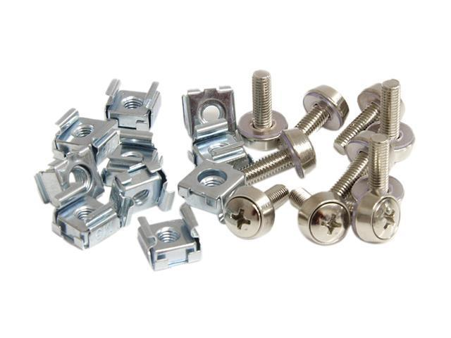 StarTech CABSCREWM52 100 Pkg M5 Mounting Screws and Cage Nuts for Server Rack Cabinet