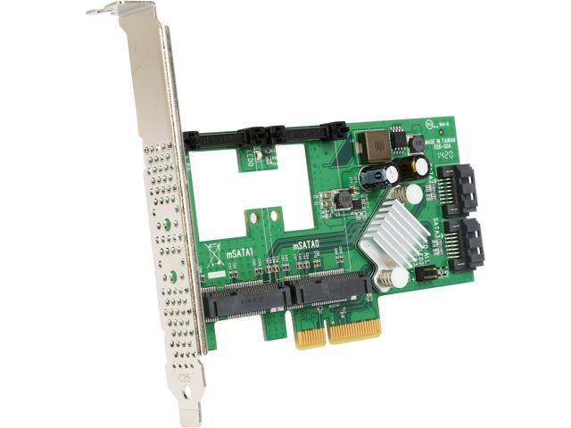 StarTech.com 2 Port PCI Express 2.0 SATA III 6Gbps RAID Controller Card w/ 2 mSATA Slots & HyperDuo SSD Tiering - PCIe SATA 3 Controller