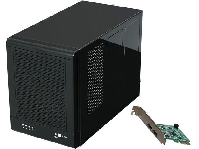 Rosewill RSV-S4-6G - 4-Bay 3.5��� Hot-Swap Spanning & JBOD Enclosure - RAID 0 / 1 / 10 / 5 / 5 + Spare - Controller Card Bundle - Up to 6 Gbps Transfer Rate