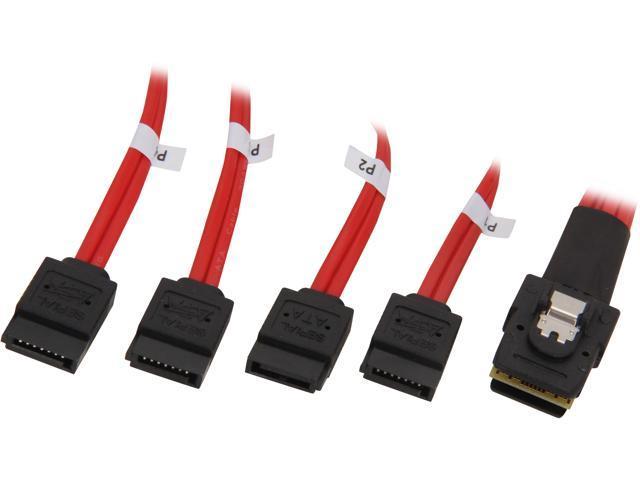Rosewill RASA-13001 - 1.6-Foot (0.5 Meter) Multi-Lane Internal (SFF-8087) Serial ATA Breakout Cable