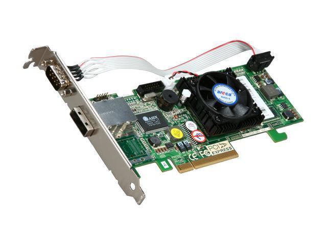 areca ARC-1212X PCI-Express x8 SATA / SAS Controller Card