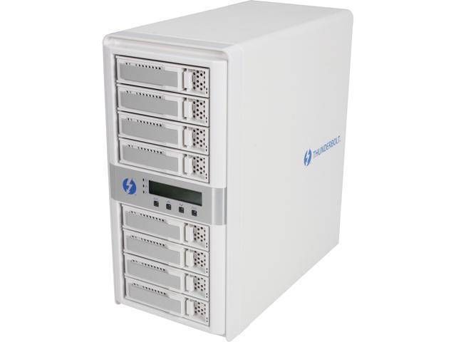 areca ARC-8050 8-Bay Thunderbolt to 6Gb/s SAS RAID Storage w/ LCD