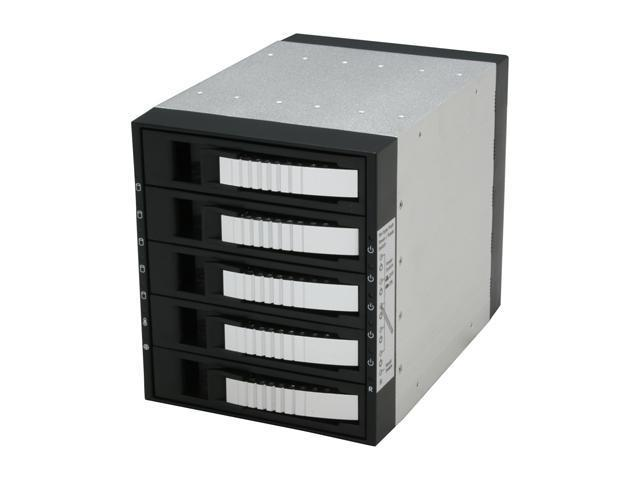 "iStarUSA BPU-350SATA-SILVER 3x5.25"" to 5x3.5"" SAS/SATA 6.0 Gb/s Hot-Swap Cage  - OEM"