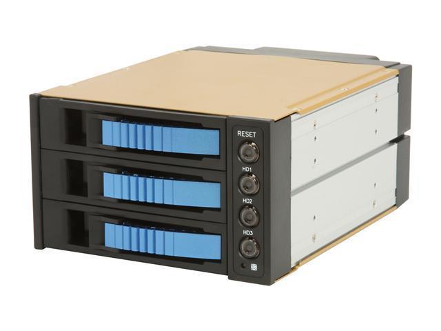 "iStarUSA BPU-230SATA-BLUE 2x5.25"" to 3x3.5"" SATA Hot-swap Raid Cage  - OEM"