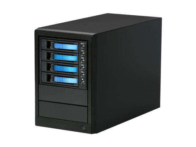 iStarUSA dAGE420-ES-BLUE Tower 4-bay SATA eSATA Enclosure with 300w