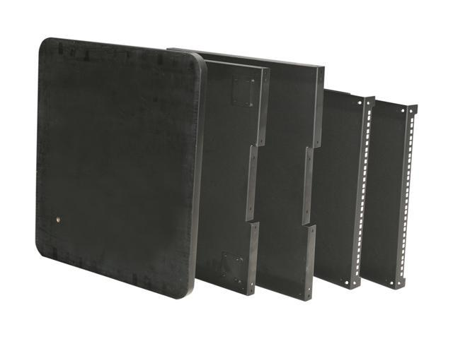 iStarUSA WJ960-TA 9U 600mm Depth Simple Server Rack with Wood Top & LCD Arm