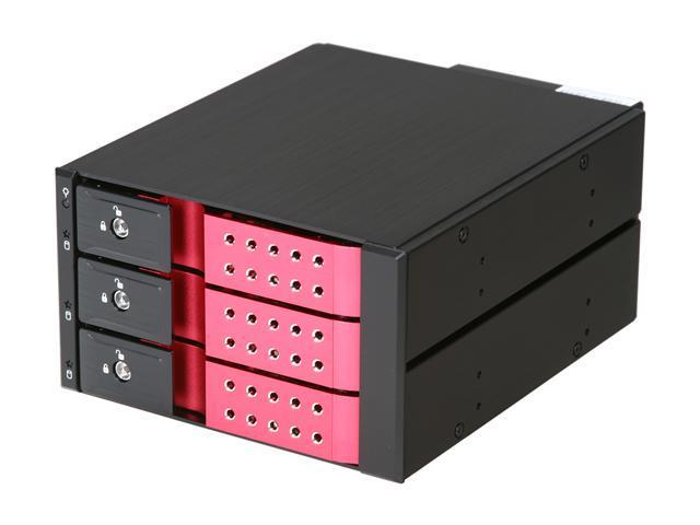 "iStarUSA BPN-DE230SS-RED Trayless 2 x 5.25"" to 3 x 3.5"" SAS SATA 6 Gbps HDD Hot-swap Rack  - OEM"