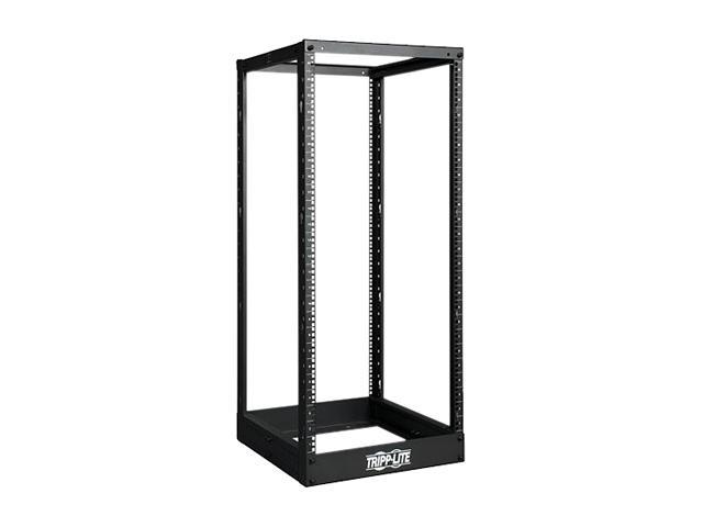 Tripp Lite SR4POST25 25U 4-Post SmartRack Open Frame Rack - Organize and Secure Network Rack Equipment